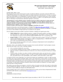 Oral Health Notification Letter (Spanish)