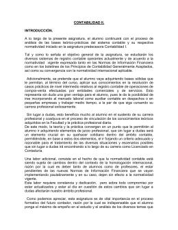 CONTABILIDAD II - Dr. Francisco Javier Cruz Ariza