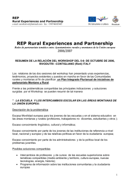 REP - Centro Rurale Europeo