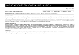 IMPLICACIONES EDUCATIVAS DE LAS TIC´s