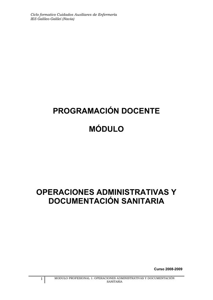 Operaciones Administrativas Y Documentos Sanitarios