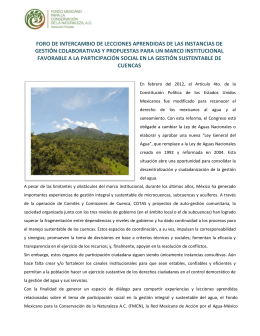 Nota Informativa - Freshwater Action Network
