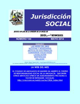 Revista de Jurisdicción Social número 144 del mes de Mayo
