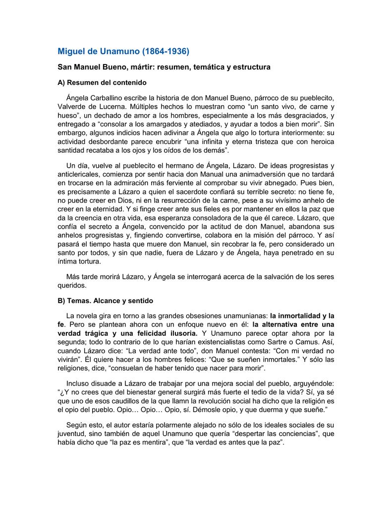 san manuel bueno martir pdf libro completo