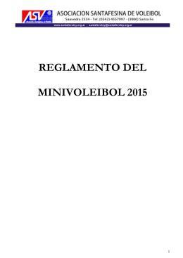 Reglamento Minivoley 2012 - Asociación Santafesina de Voley
