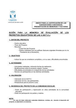Requisitos para la justificación