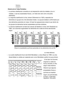 Clasificacin peridica de los elementos qumica unidad iii historia de la tabla peridica urtaz Choice Image