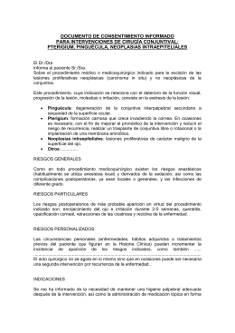 document de consentiment informat per a intervencions de cataractes