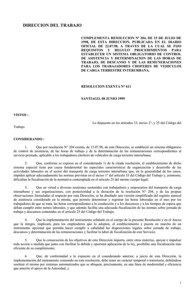 DIRECCION DEL TRABAJO - Dirección del Trabajo