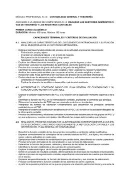 módulo profesional n1 4 : contabilidad general y tesorería