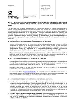 solicitud de inscripción del depósito de cuentas anuales