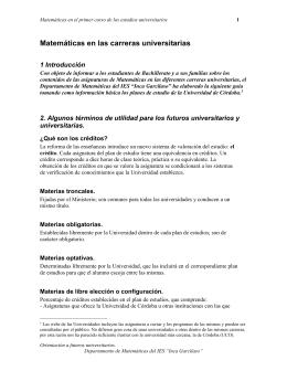Con objeto de informar a los estudiantes de Bachillerato y a sus
