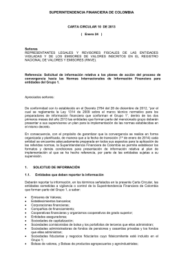 Carta Circular 10 - Superintendencia Financiera de Colombia