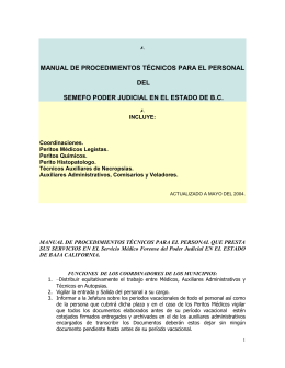 funciones de los peritos medicos legistas