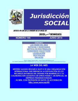 Revista de Jurisdicción Social número 145 del mes de Junio