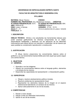 UNIVERSIDAD DE ESPECIALIDADES ESPÍRITU SANTO  FACULTAD DE ARQUITECTURA E INGENIERIA CIVIL SYLLABUS