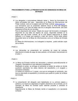Procedimiento Ingreso de Causas Jurisdiccion Civil