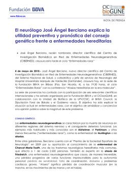 El neurólogo José Ángel Berciano explica la utilidad preventiva y