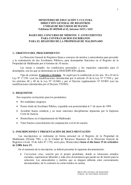 1) REQUISITOS: - Dirección General de Registros