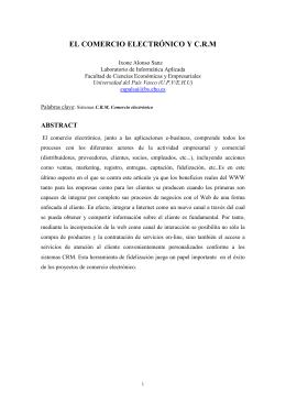 EL COMERCIO ELECTRÓNICO: UNA APLICACIÓN A LA GESTIÓN