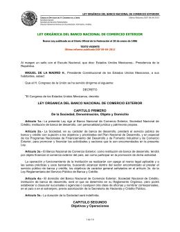 Ley Orgánica del Banco Nacional de Comercio Exterior