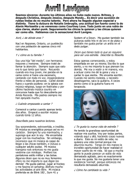avril lavigne - Languages Resources