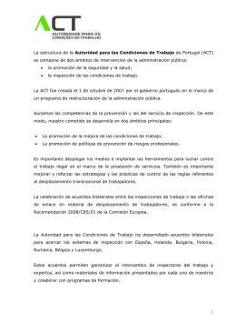 La estructura de la Autoridad para las Condiciones de Trabajo de