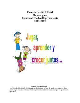 Escuela del camino de Eastford Estudiante/padre/guarda Manual