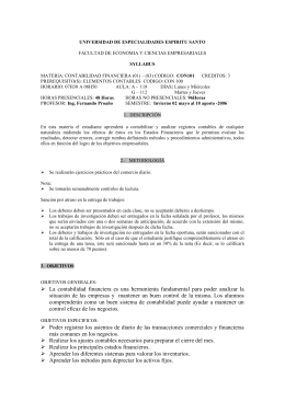 UNIVERSIDAD DE ESPECIALIDADES ESPIRITU SANTO SYLLABUS CON101