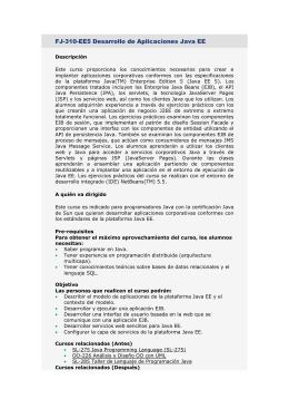 FJ-310-EE5 Desarrollo de Aplicaciones Java EE