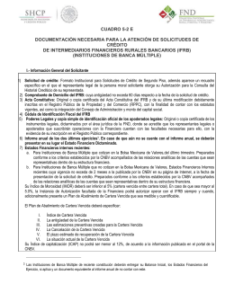 Requisitos para Intermediarios Financieros