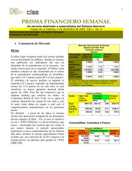 PRISMA FINANCIERO SEMANAL