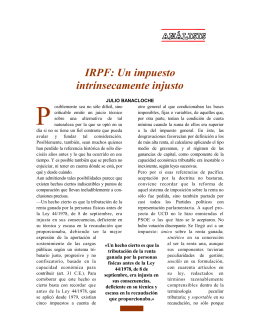 P IRPF: Un impuesto intrínsecamente injusto