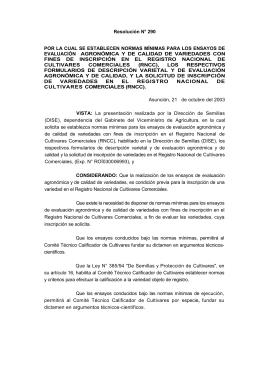 resolucion 290_03 por la cual se establecen normas mínimas para