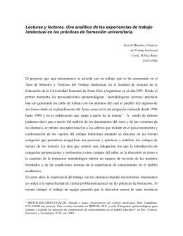 Lecturas y lectores - Universidad Tecnológica de Pereira
