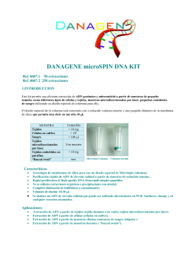 DANAGENE microSPIN DNA KIT Ref. 0607.1 50 extracciones Ref