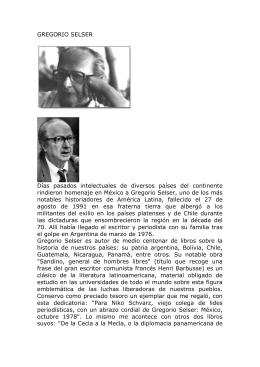 Gregorio Selser, apuntes biográficos