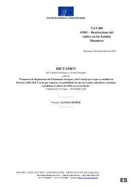 OMG – Restricciones del cultivo en los Estados Miembros