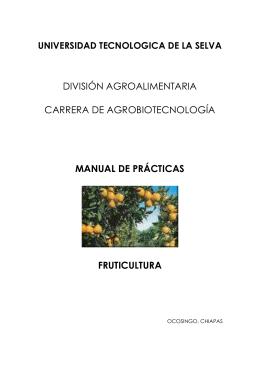 asignatura: horticultura - Universidad Tecnológica de la Selva