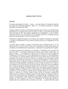 2011R067 - Defensoría del Asegurado