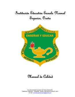 PG.01.M001 - Manual de Calidad - institución educativa escuela