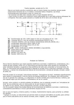 Fuente regulada, variable de 0 a 15V