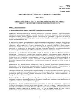 FTAA.sme/inf/132 15 de agosto de 2003 Argentina
