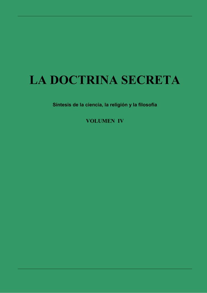 ciencia y doctrina secreta comparadas