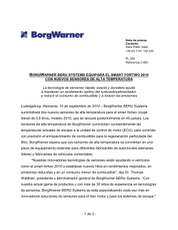 Contacto - BorgWarner Emissions Systems