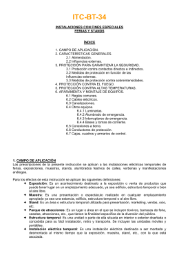 ITC-BT-34 Inst.con fines especiales
