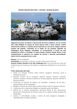 OPUNTIA WILDLIFE DISCOVERY, 5 NOCHES + NOCHES EN