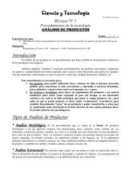ANALISIS DE PRODUCTOS - tecno