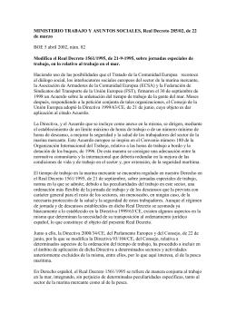 R.D. 285/02, de 22 de marzo - Ministerio de Empleo y Seguridad