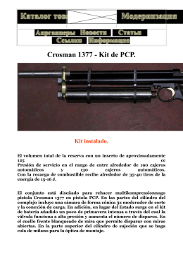 Crosman 1377 PARA COVERTIR EN PCP